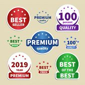 Collection Paper Stickers. Colorful Labels For Your Projects. Best Seller, Premium, 100 Quality, Bes poster