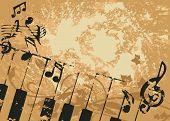 Постер, плакат: Гранж вектор музыкальный фон