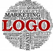 stock photo of orientation  - Logo and brand related concept in word tag cloud on white background - JPG