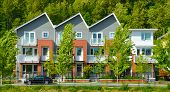 Brand New Townhouse Building In Vancouver, British Columbia poster