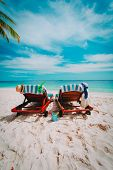 Two Chairs On The Tropical Beach, Vacation At Sea poster