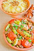 pic of tagine  - Moroccan Seven Vegetables tagine with chicken - JPG