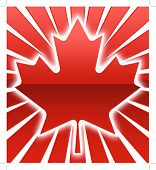 image of canada maple leaf  - A red over sunburst maple Leaf illustration - JPG