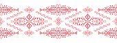 African Ornament Seamless Stripe Pattern. Polynesian Decorative Border. Aztec Peru Mexican Scandinav poster