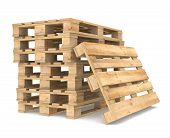 picture of wooden pallet  - Pile of Pallets - JPG