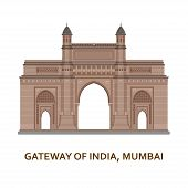 Gateway Of India, Mumbai. Indian Most Famous Sight. Architectural Building. Famous Tourist Attractio poster