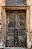 Grunge Weathered Door poster