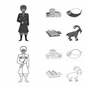 Isolated Object Of Culture And Sightseeing Symbol. Collection Of Culture And Originality Stock Symbo poster