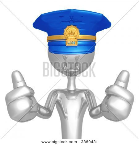 Police Officer Two Thumbs Up