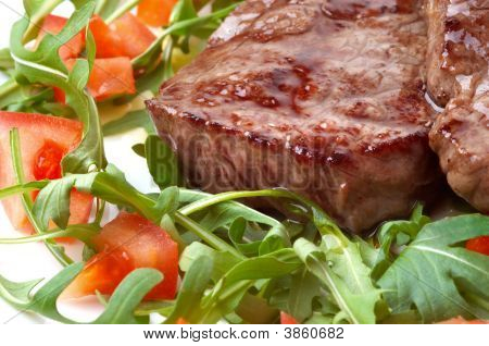 Beef Steak With Rocket Salad