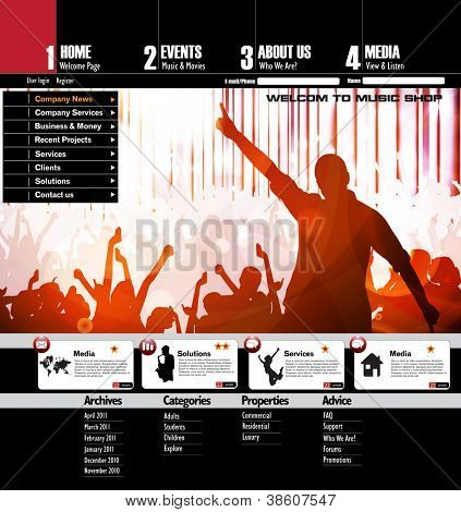 Musik-Website-Templates