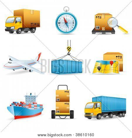 Iconos de la logística