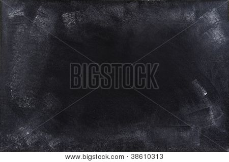 Giz esfregada no quadro-negro