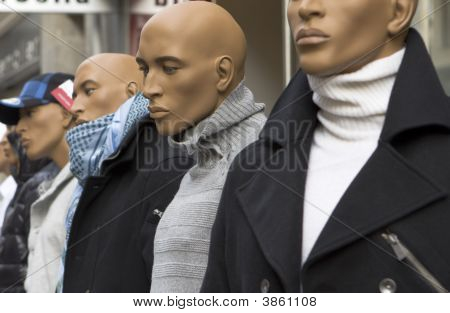 Male Mannequin In The Street