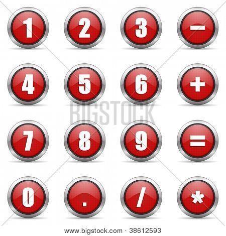 numeric icons set