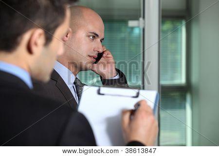 Businessmen in an office