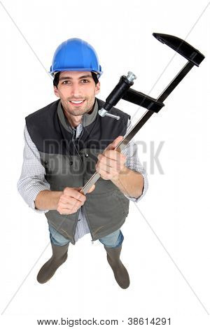 Builder holding clamp