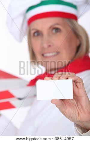 Pizza Chef Visitenkarte anzeigen
