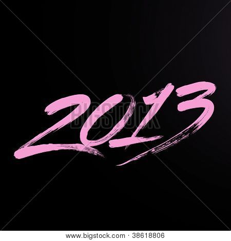 New year 2013 lettering. Writing 2013.