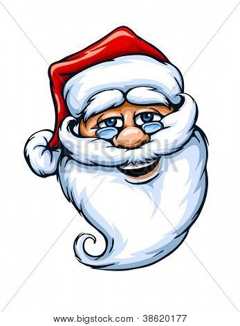 smiling Santa Claus face vector illustration isolated on white background EPS10.
