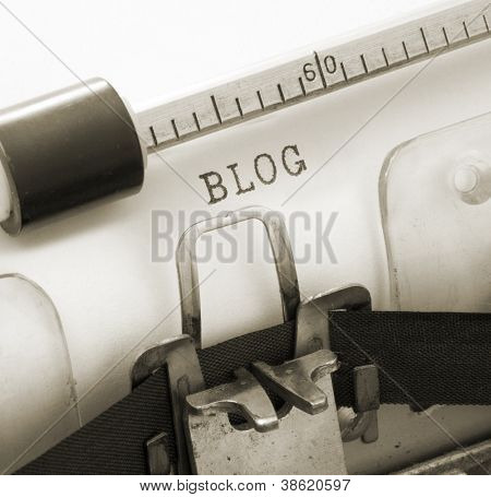 old typewriter with text BLOG