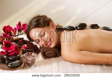 Spa Stone Massage. Day-Spa Treatment