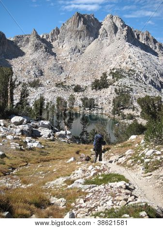 Hiking in John Muir Trail, Sierra National Forest, California