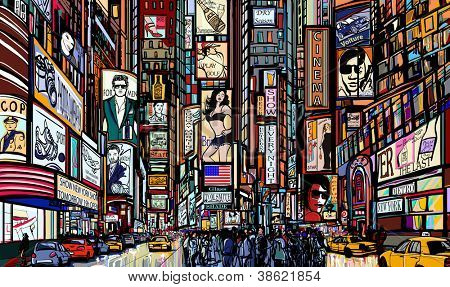 Illustratie van een straat in New York city