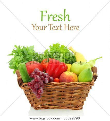 Fruits and vegetables in the basket