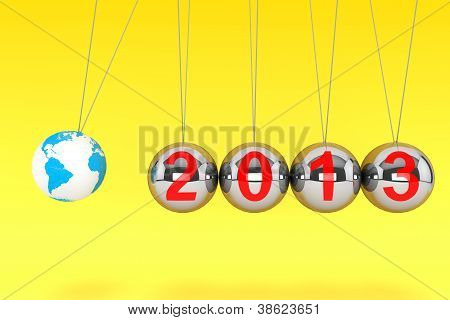 New Year Spheres Of Newton