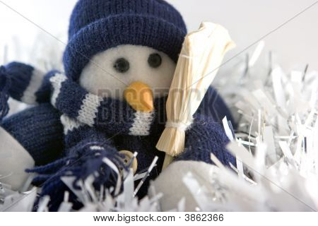Snowman In Tinsels