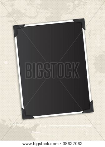 Vintage blank photo background