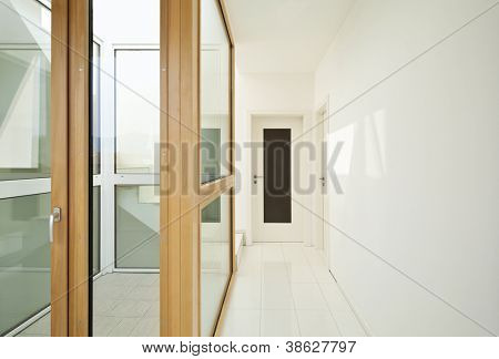 interior, stairwell of a modern home , corridor