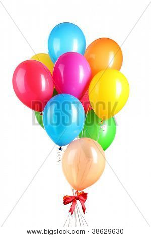 Bunten Luftballons, isolated on white