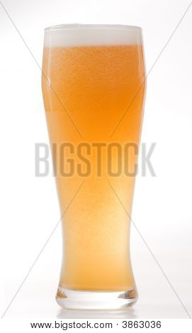 The Misted Over Glass With Beer
