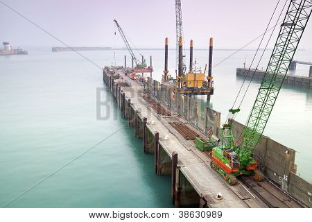 Harbor Pier Under Construction