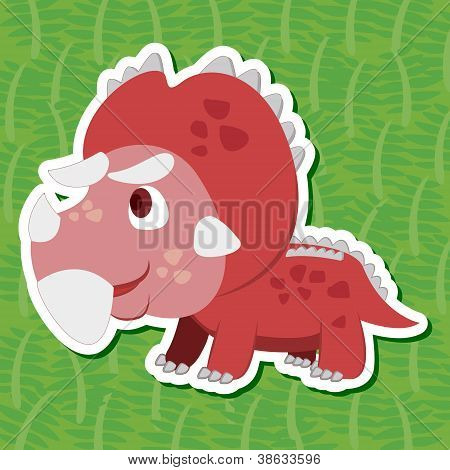 Cute Dinosaur Sticker11