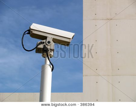 Security Camera And Sky
