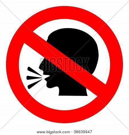 Vector no talking sign