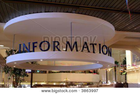 Signo. Información. Señal de información.