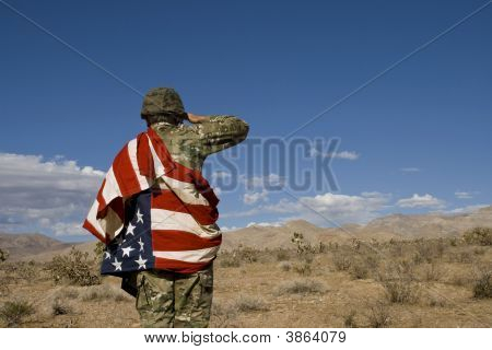 American Soldier In Iraq