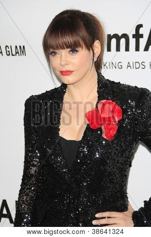 LOS ANGELES - OCT 11: Rose McGowan at amfAR's Inspiration Gala at Milk Studios on October 11, 2012 in Los Angeles, California.