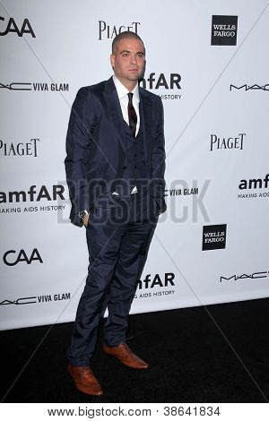 LOS ANGELES - OCT 11:  Mark Salling arrives at the amfAR Inspiration Gala Los Angeles at Milk Studios on October 11, 2012 in Los Angeles, CA