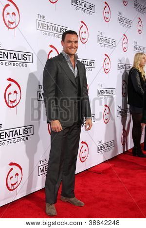 """LOS ANGELES - OCT 11:  Owain Yeoman arrives at """"The Mentalist"""" 100th Episode Party at The Edison on October 11, 2012 in Los Angeles, CA"""