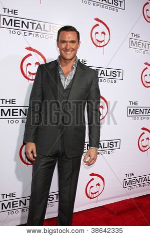 "LOS ANGELES - OCT 11:  Owain Yeoman arrives at ""The Mentalist"" 100th Episode Party at The Edison on October 11, 2012 in Los Angeles, CA"