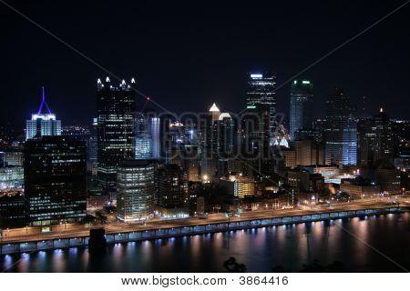 Pittsburgh\'s Skyline At Night