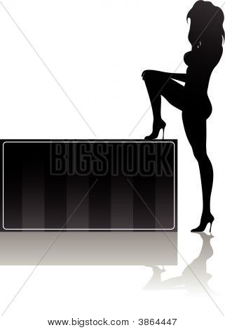 Woman And Box