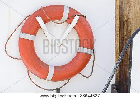 Orange life belt