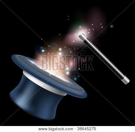 Magic Tophat And Magic Wand