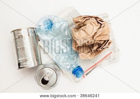 Plastic paper and mteallic waste for recycling